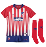 2018-2019 Atletico Madrid Home Nike Little Boys Mini Kit
