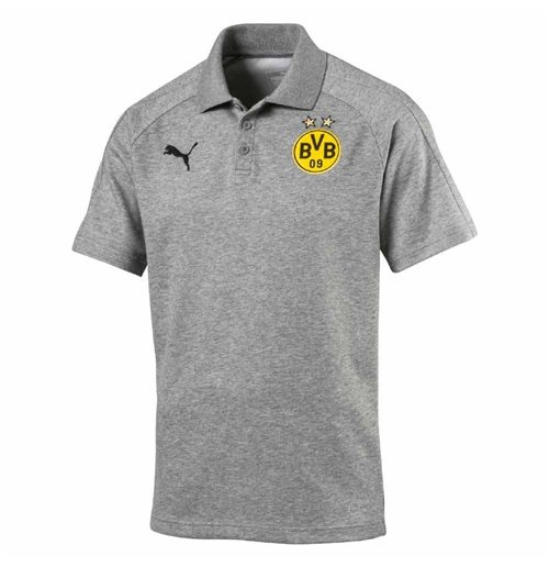 2017-2018 Borussia Dortmund Puma Casuals Polo Shirt (Grey)