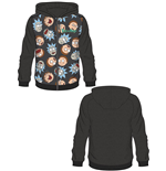 Rick and Morty Hooded Sweater Rick & Morty Pattern