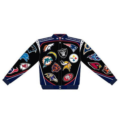 Official NFL Football Team Collage Jacket  Buy Online on Offer 1a9352093f76