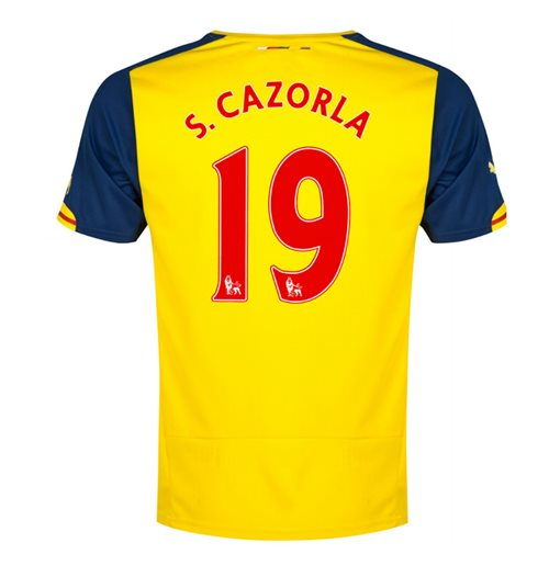 2014-15 Arsenal Away Shirt (S.Cazorla 19)