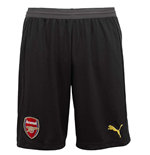 2018-2019 Arsenal Home Goalkeeper Shorts (Black)