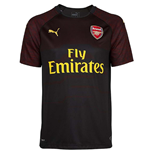 2018-2019 Arsenal Puma Home SS Goalkeeper Shirt (Black) - Kids