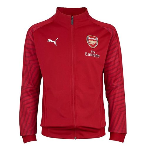 2018-2019 Arsenal Puma Stadium Jacket (Chilli Pepper)