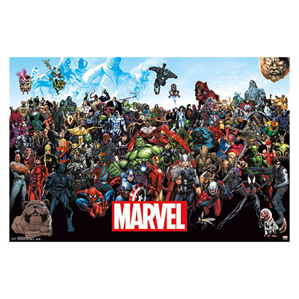 Marvel Super Heroes Lineup 23 x 34 Inch Poster