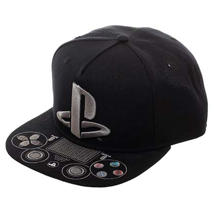 PLAYSTATION Logo Controller Video Game Black Men's Hat