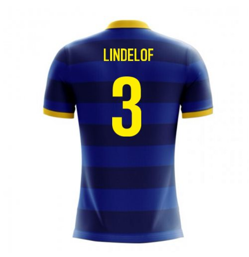 2018-2019 Sweden Airo Concept Away Shirt (Lindelof 3) - Kids