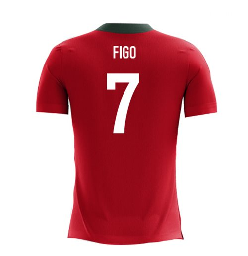 2018-2019 Portugal Airo Concept Home Shirt (Figo 7) - Kids