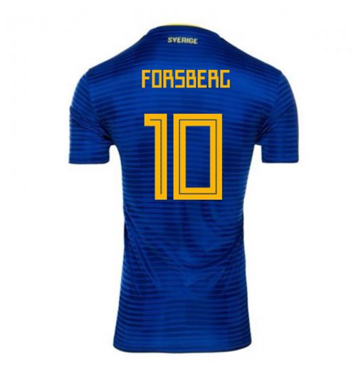 2018-2019 Sweden Away Adidas Football Shirt (Forsberg 10) - Kids