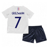 2018-2019 France Away Nike Little Boys Mini Kit (Griezmann 7)