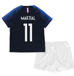 2018-2019 France Home Nike Baby Kit (Martial 11)