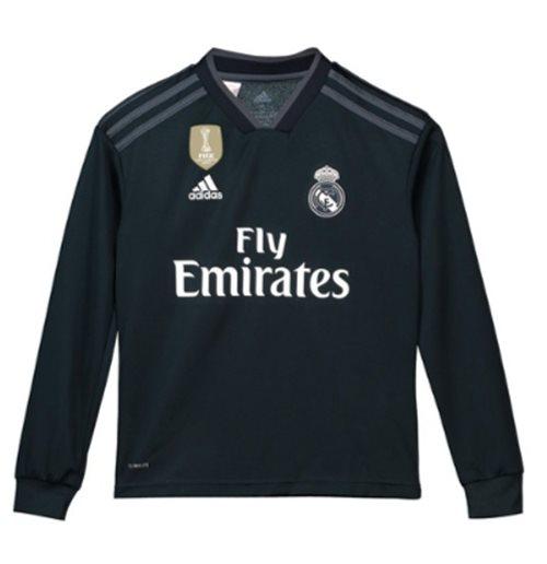 competitive price 108c6 bad54 2018-2019 Real Madrid Adidas Away Long Sleeve Shirt (Kids)