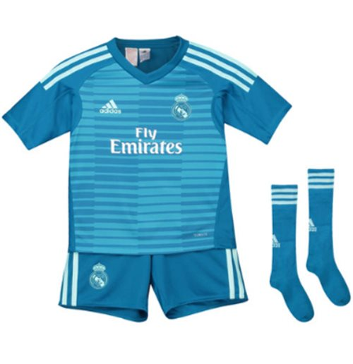 outlet store 559eb 2a5d4 2018-2019 Real Madrid Adidas Away Goalkeeper Mini Kit