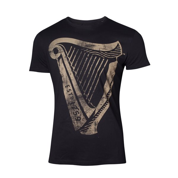 Guinness - Distressed Harp Logo Men's T-shirt