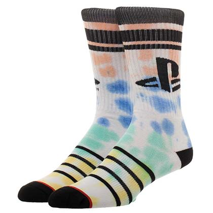 PLAYSTATION Logo Tie Dye Vintage Men's Crew Socks