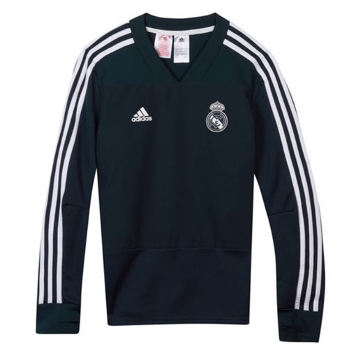 2018-2019 Real Madrid Adidas Training Top (Dark Grey) - Kids