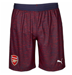 2018-2019 Arsenal Away Football Shorts (Navy)