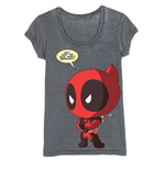 Deadpool Ladies T-Shirt Chibi Deadpool