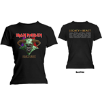 Iron Maiden Ladies Tee: Legacy of the Beast Tour (Back Print)