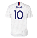 2018-2019 France Away Nike Football Shirt (Zidane 10) - Kids