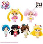 Sailor Moon Petit Chara Trading Figure 6-Pack Cherry Blossom Festival Ver. 6 cm