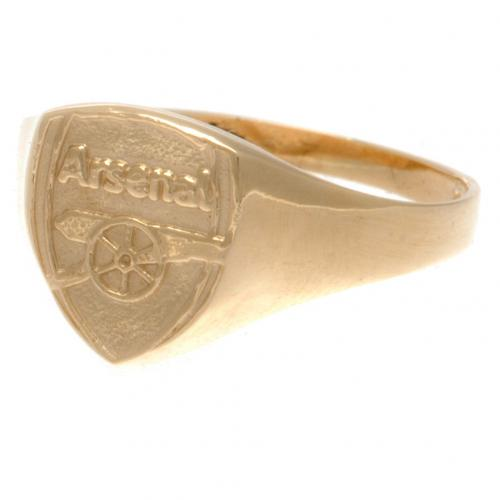 Arsenal F.C. 9ct Gold Crest Ring Medium