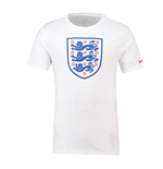 2018-2019 England Nike Evergreen Crest Tee (White) - Kids