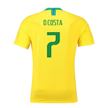2018-2019 Brazil Home Nike Vapor Match Shirt (D Costa 7)