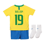 2018-2019 Brazil Home Nike Baby Kit (Willian 19)