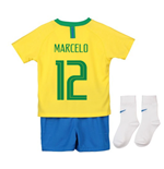 2018-2019 Brazil Home Nike Baby Kit (Marcelo 12)