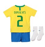 2018-2019 Brazil Home Nike Baby Kit (Dani Alves 2)