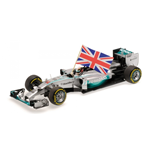 MERCEDES AMG W05 L. HAMILTON WINNER ABU DHABI GP WITH FLAG WORLD CHAMPION 2014