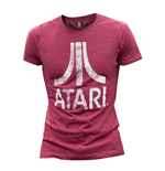 ATARI Male Chest Logo T-Shirt, Small, Red