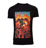 DOOM Male Classic Box Art T-Shirt, Extra Large, Black