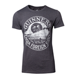 GUINNESS Male Heritage Intaglio Raised Printed T-Shirt, Extra Extra Large, Grey