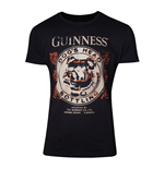 GUINNESS Male Dog's Head Bottling T-Shirt, Medium, Black
