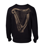 GUINNESS Male Distressed Harp Logo Sweatshirt, Extra Large, Black