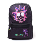 RICK AND MORTY Rick's Neon Face Print Backpack, Black
