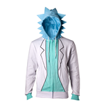 RICK AND MORTY Male Rick Suit Full Length Zipped Hoodie, Extra Large, Multi-colour