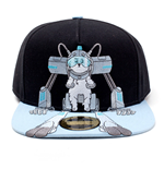RICK AND MORTY Embroidered Snowball Snapback Baseball Cap, Black/Blue