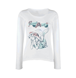 Disney Long Sleeves T-shirt Princess Ariel Pastel Wash Longsleeve (GIRLS)
