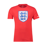 2018-2019 England Nike Evergreen Crest Tee (Red)