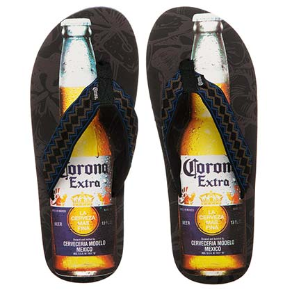 CORONA EXTRA Beer Bottle Adult Mens Flip Flops Sandals