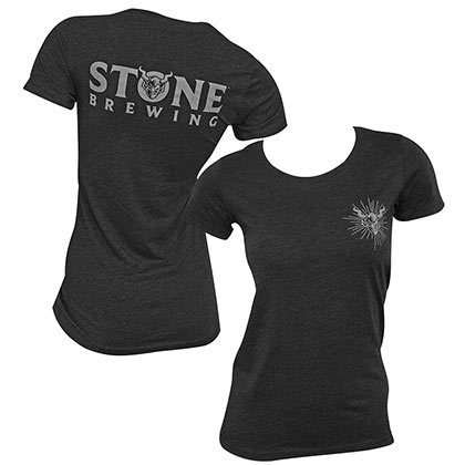 Stone Brewing Back Logo Heather Black Women's TShirt