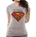 Superman - Celebrating 80 Years - Women Fitted T-shirt Grey