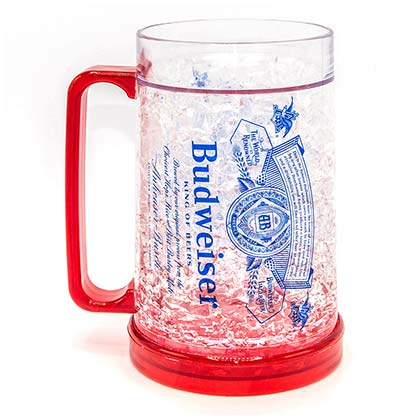 BUDWEISER Freezer Beer Stein Mug 16 Ounces