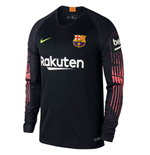2018-2019 Barcelona Home Nike Goalkeeper Shirt (Black)