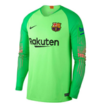 2018-2019 Barcelona Away Nike Goalkeeper Shirt (Green) - Kids