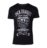 JACK DANIEL'S Male Old Advertising T-Shirt, Large, Black