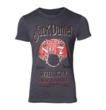 JACK DANIEL'S Male Old Advertising T-Shirt, Extra Extra Large, Grey